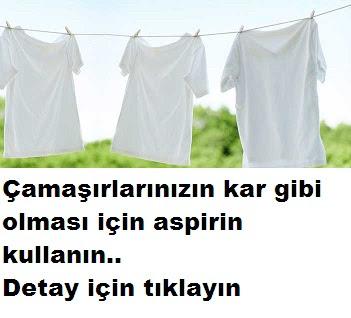 Bembeyaz çamaşırlar için aspirin