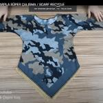 Eşarptan pratik bluz yapılışı