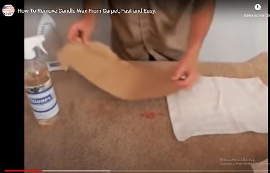 Halıdaki mum lekesi nasıl çıkarılır