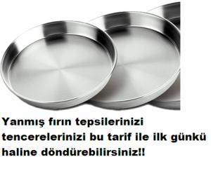 Read more about the article YANMIŞ FIRIN TEPSİ VE TENCERELERİNİZİ İLK GÜNKÜ HALİNE DÖNDÜREN TARİF
