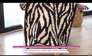 Read more about the article Tığ şiş olmadan örgü zebra desenli battaniye yapılışı