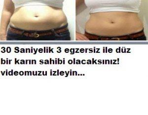 Read more about the article 30 SANİYELİK 3 EGZERSİZLE DÜZ BİR KARIN