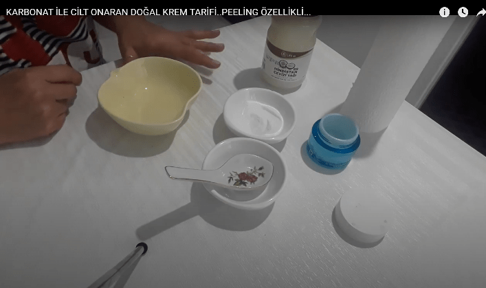 Karbonatlı cilt onaran peeling krem tarifi