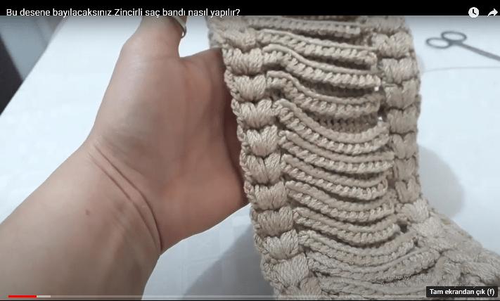 Zincirli yeni sezon saç bandı yapımı