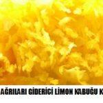 Kronik ağrıları giderici limon kürü tarifi